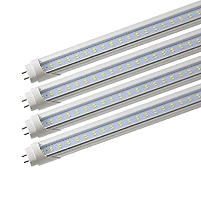 Romwish T8 T10 T12 4ft LED Bulbs, Fluorescent Replacement Tube, Dual-End Powered, 28W (40-50W Equiv.), 6000K