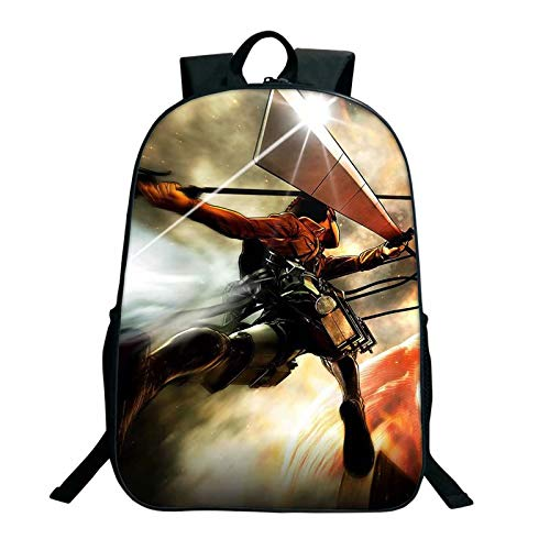 Mochila Attack on Titan Anime Cartoon Cool Boy Daily Bag Student Schoolbag para niños