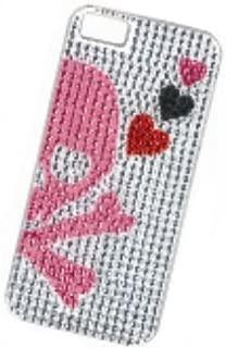 iPhone5 Deco Case Pink Skull IP-008
