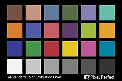 """Pixel Perfect Camera Color Correction Card - 5"""" x 7"""" for Photo and Video - Reference Tool Grey Card Target White Balance Exposure Temperature Color Calibration Chart (1-Pack)"""