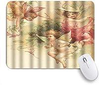 NINEHASA 可愛いマウスパッド キャリーミーゴーエレガントな神聖な美しい天使 ノンスリップゴムバッキングコンピューターマウスパッドノートブックマウスマット