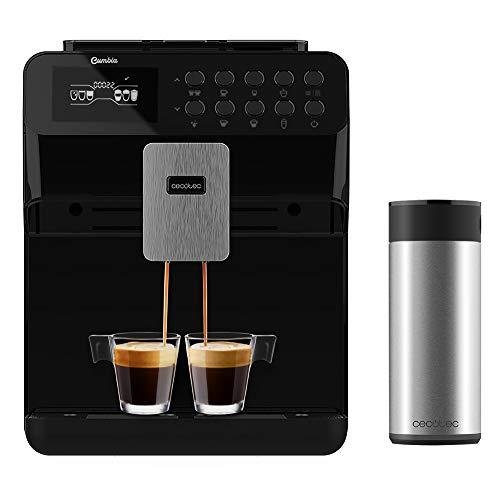 Cecotec Cafetera Automática Power Matic-ccino 7000. Depósito de Leche. Pantalla digital. Café totalmente Personalizable. Tecnología ForceAroma 19 bares de presión. Bandeja calientatazas.
