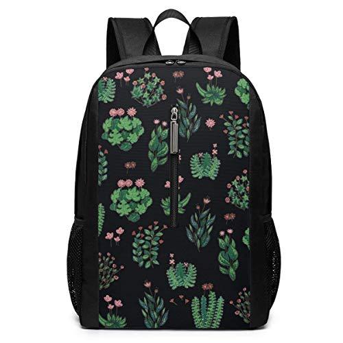 Mochila Mochila de Viaje Green Garden 3D Printing 17'' Classic Multifunctional High Capacity Backpack Computer Bag