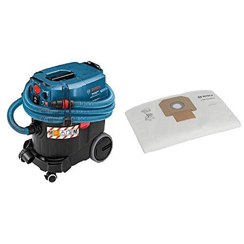Bosch 06019C31W0 Aspiradora, 1380 W, 240 V + Bosch 2 607 432 037  - Bolsa filtrante de fieltro - - (pack de 5)