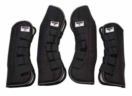 Saxon. Travel Horse Boots Black Cob (4 Boots)