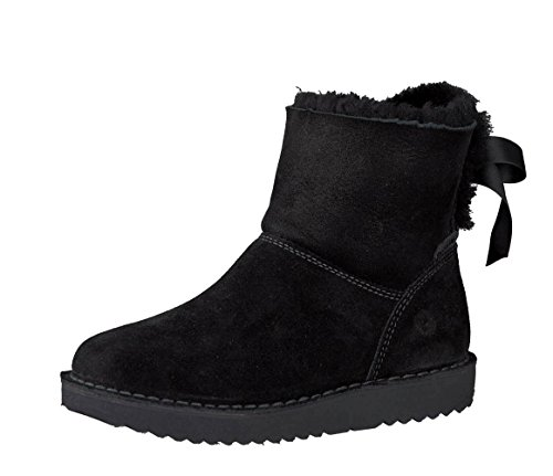 RICOSTA Mädchen Winterstiefel IRMA 9120500,Kinder Winter-Boots,Fellboots,Fellstiefel,gefüttert,warm,wasserdicht,Weite Mittel,schwarz,EU 36