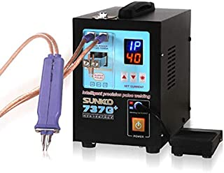 SUNKKO 737G+ Battery Spot Welder, Pulse Welding Machine for 18650 14500 Lithium Batteries Battery Pack Work With Nickel Strips 0.35mm