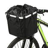 Lixada Fahrradkorb Faltbarer Kleine Haustierkatze Hundeträgertasche Abnehmbarer Fahrradlenker Vorne Radfahren Vordertasche Handtasche (Fahrradkorb Typ5)