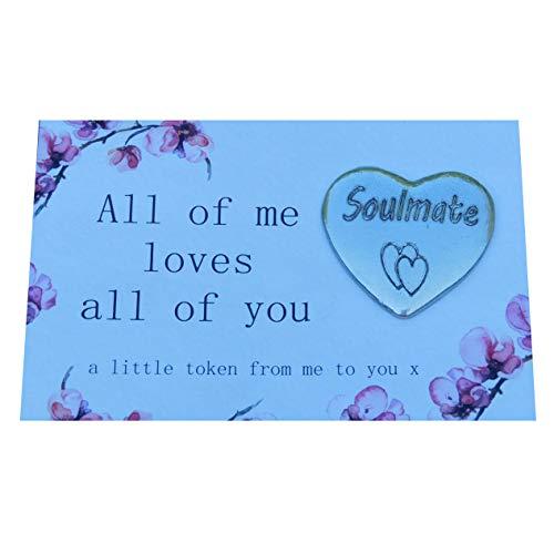 Cada Parte De Mí Te Ama Amuleto de la Suerte con Soulmate (Alma Gemela). Hecho a Mano por William Sturt