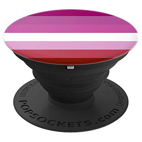 Lesbian Pride Flag PopSockets Grip and Stand for Phones and Tablets