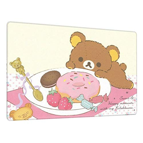 Rilakkuma Computer Gaming Mouse Pad Rubber Material Mat for Office and Home Laptop Desktop Mousepad(29.5x15.8 in)