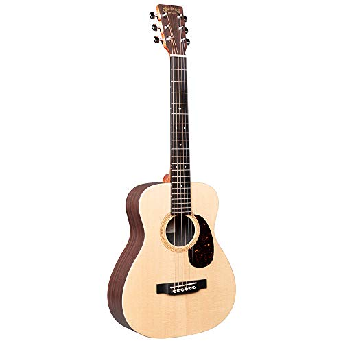 Little Martin LX1RE Acoustic-Electric Guitar with Gig Bag, Sitka Spruce and Rosewood Pattern HPL Construction, Modified 0-14 Fret, Modified Low Oval Neck Shape