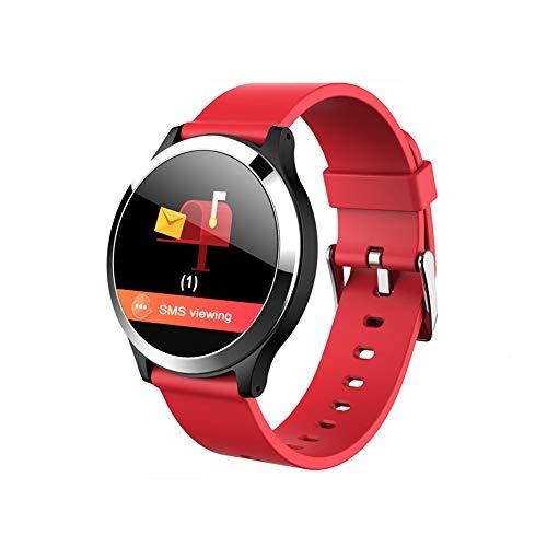 Smart Watch Bluetooth Herzfrequenz-Überwachung Bewegungsmelder Schlaf Schrittzählerinformationen Anruferinnerung-red