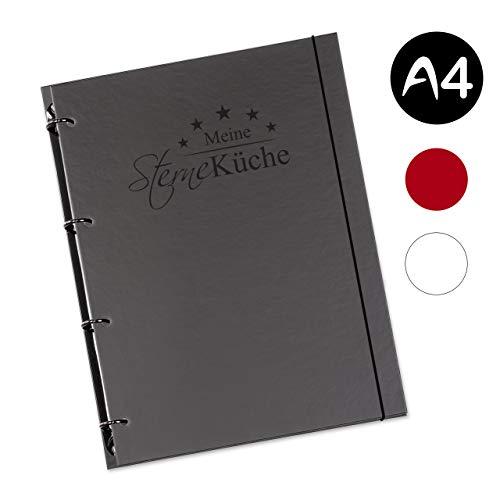 flexiNotes KOCHBUCH A4 zum Selberschreiben mit Register, Typ: Sterneküche, Schwarz