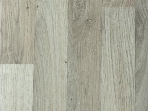 PVC-Bodenbelag Landhausoptik & Holzoptik Hellgrau | Vinylboden in 2m Breite & 5m Länge | Fußbodenheizung geeignet | Pflegeleichte & rutschhemmende PVC Planken | Stark strapazierfähiger Fußboden-Belag