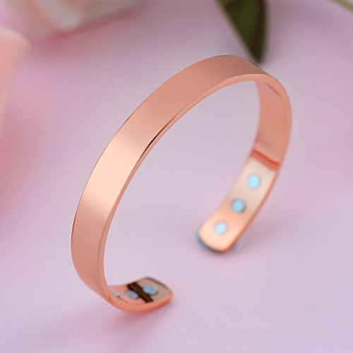 Magnetic Copper Bracelet Pure Copper Magnetic Bracelet for Men Women with Powerful Therapy Magnets Effective and Natural Relief for Arthritis (1 PC)