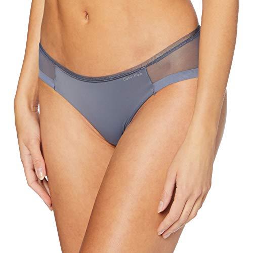 Calvin Klein Damen Bikini Bikinihose, Grau (Chrome CDQ), (Herstellergröße: X-Small)