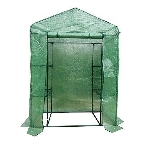 HWLL Reemplazo de la Cubierta del Invernadero Sin Caminar, Cubierta Reforzada de Cultivo Mediano, 143 × 73 × 195 cm, Cubierta de PE Resistente