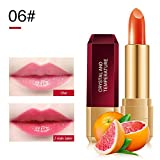 Allbestaye Magisch Jelly Lippenstift Farbe Ändern Temperatur PH Farbwechsel Wasserfest Lippenbalsam Make-up Kirsche Karotte Honig