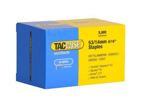 Tacwise 0452 Grapas Galvanizadas de Tipo 53/14 mm - Caja de 5000, 14mm, Set Piezas