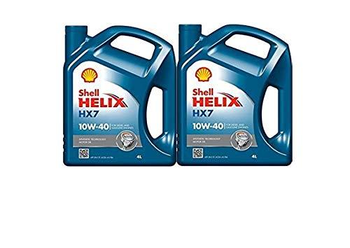 Shell Helix HX7 10w/40 2 bidones de 4 litros = 8 litros