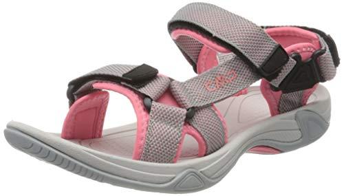 CMP – F.lli Campagnolo Hamal Wmn Hiking Sandal, Sandalias de Senderismo Mujer, Multicolor Cemento U716, 37 EU