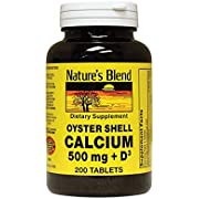 Nature's Blend Oyster Shell Calcium with D3 200 Tabs