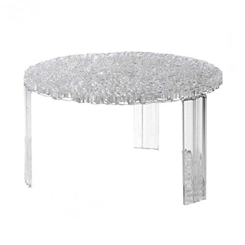 Kartell 8500B4 Beistelltisch T-Table Durchmesser 50 x 28 cm PMMA, transparent glasklar