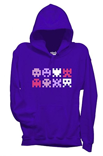 MUSH Sweatshirt Space Invaders Logo - Jeux by Dress Your Style - Homme-L-Violet