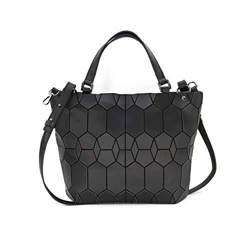 Hot One Farbänderungen Geometrische Leuchtende Geldbörsen und Handtaschen Holographic Purse Reflective Purse Fashion Rucksäcke (9# Schwarz Handtasche)