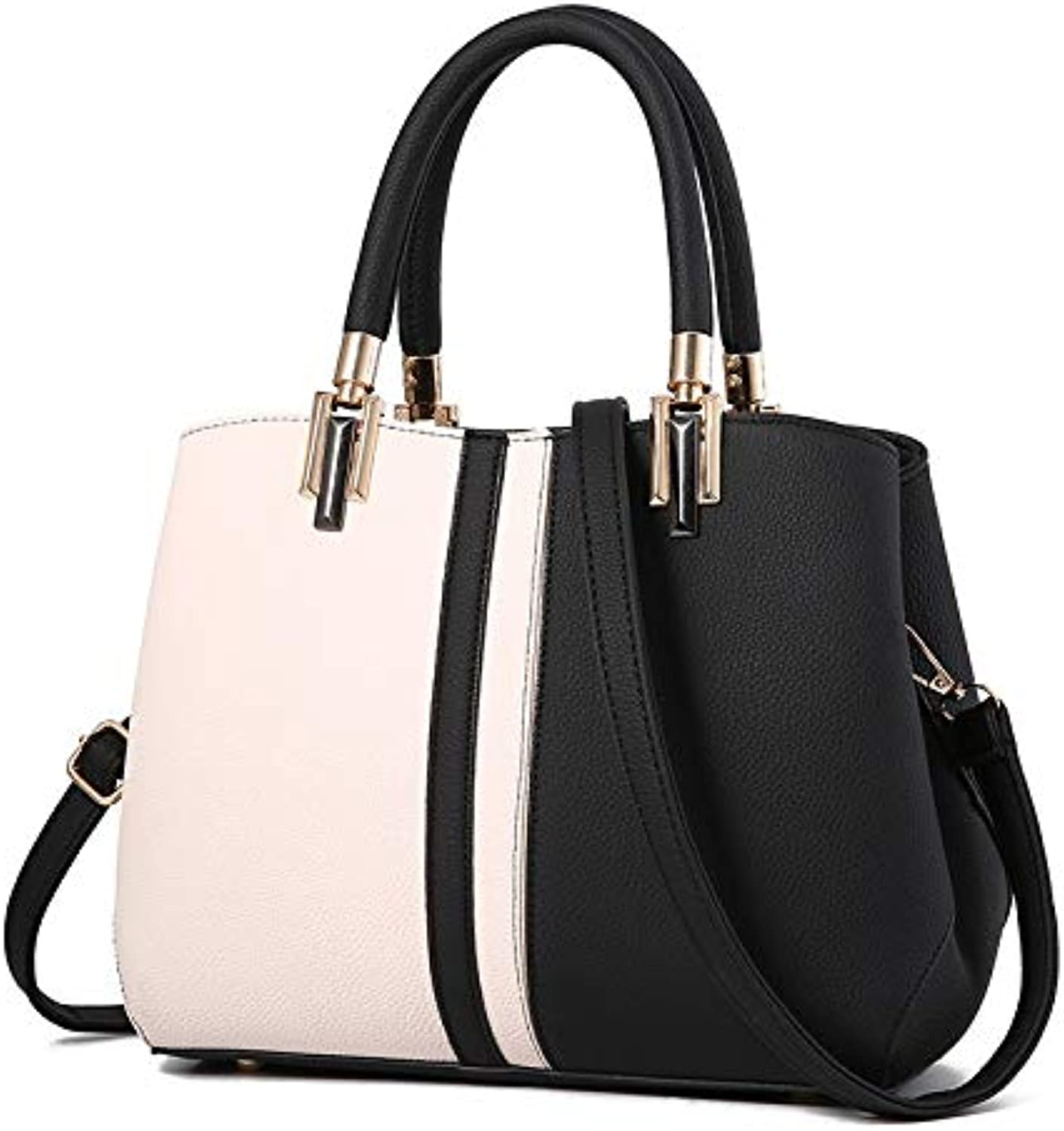ASHIJIN New Women Bag Striped Black and White Handbag Women Shoulder Bags Handbag Handbags