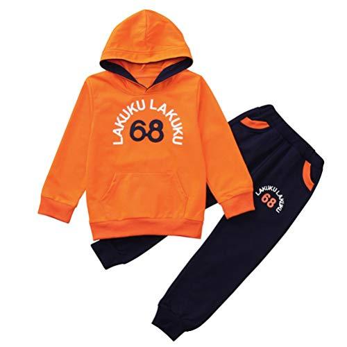 Conjuntos Bebe, ASHOP 0-4 años Niño Niña Otoño/Invierno Ropa Conjuntos, Camiseta con Mangas Estampadas LAKUKU de Mangas largas+ Pantalones