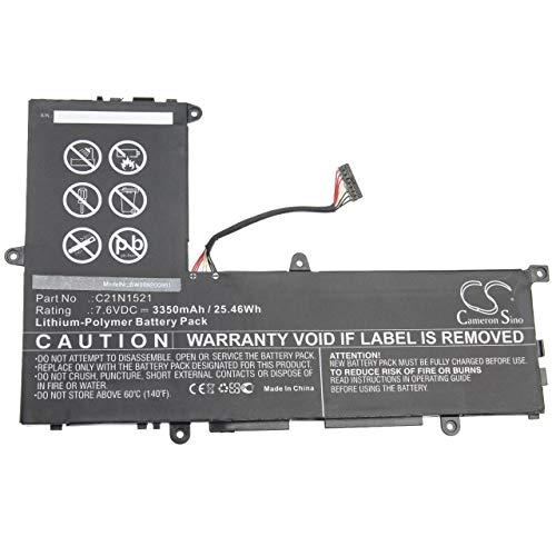 vhbw Batería Recargable Compatible con ASUS VivoBook E200HA-UB02-GD, E200HA-US01-BL, E200HA-US01-GD Notebook (3350 mAh, 7,6 V, polímero de Litio)