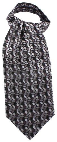 Knightsbridge Neckwear Black/Grey Circles Silk Cravates de