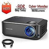 Projecteur HD, KOOLEVER Vidéoprojecteur Full HD 1080P Natif 5000 Lumens Rétroprojecteur LED pour...