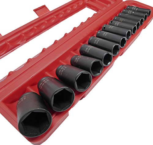 13pc 1/2' Drive Deep Impact Socket Set Metric 13mm to 32