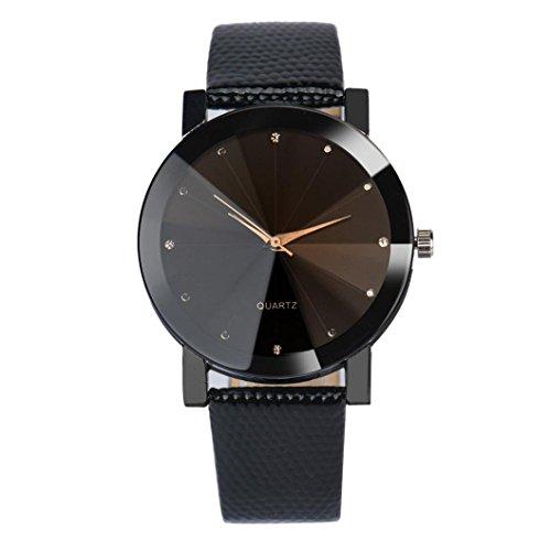 Yonlanclot - Reloj de pulsera para hombre, cuarzo, esfera militar, acero inoxidable, correa de piel, correa convexa
