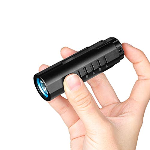 IMALENT LD70 EDC Linterna de bolsillo LED recargable de alto rendimiento 4000 lúmenes con CREE XHP70.2 LED, apta para camping y senderismo (negro)
