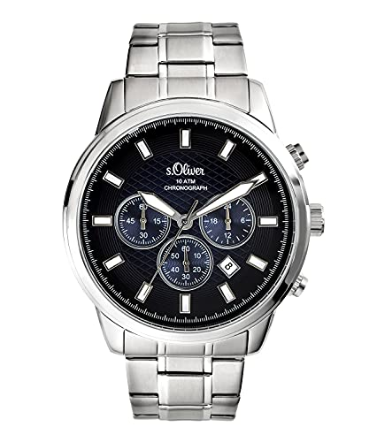 s.Oliver Herren-Armbanduhr Chronograph SO-3686-MC