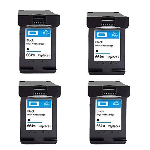 SSBY Reemplazo de Cartucho de Tinta remanufacturado para HP 664XL, Trabajo de Alto Rendimiento con Deskjet Ink Advantage Deskjet 1115 1118 2135 2136 2138 2675 Ink Advantage-4black