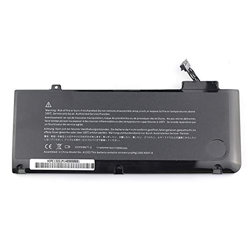 Bay Valley Parts Battery for Macbook Pro 13' A1322 A1278 (2012 2011 2010 2009) MC700LL/A MD101 MD102 Series 020-6765-A 020-6547-A 661-5229