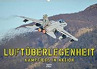 Luftueberlegenheit - Kampfjets in Aktion (Wandkalender 2022 DIN A2 quer): Faszinierende Aufnahmen von Kampfjets in Aktion. (Monatskalender, 14 Seiten )