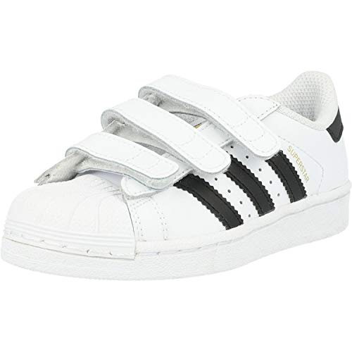 adidas - Superstar Foundation, Sneakers a collo basso infantile, Multicolore (Ftwwht/Cblack/Ftwwht), 30