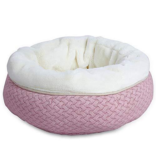 YAN Huisdier Bed Katoen Zacht Wasbaar Huisdier Kennel Nest Puppy Warm Honden Kat Bed Leuke Slaapzak Huis Kussen Mat, 50 * 20cm, roze