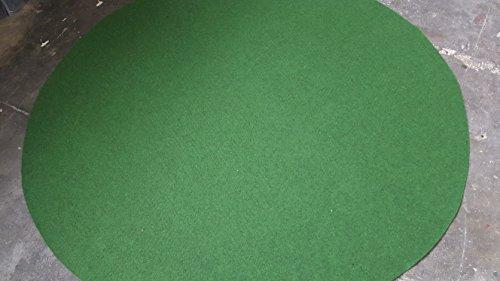 Kunstrasen (4,50€/m²), Rasenteppich mit Drainage-Noppen, Festmaß 195 cm Rund, grün