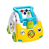 Nuby Interactive Baby Walker with Lights and Sounds 3 Stage Push Along Walker 6 Months Plus Perfect for All Stages of Play from Sitting to Standing to Walking