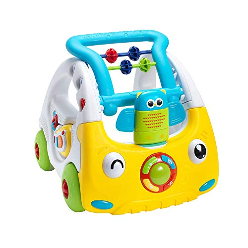 Nuby Andador Interactivo para Bebés con Luces y Sonidos, Andador de Empuje en 3 Etapas, más de 6 Meses, Perfecto para todas las Etapas del Juego, desde Estar Sentado Hasta Estar de pie y Caminar