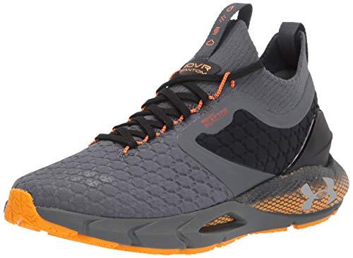 Under Armour Men's HOVR Phantom 2 ColdGear Reactor Running Shoe, Pitch Gray (100)/Lunar Orange, Numeric_7_Point_5