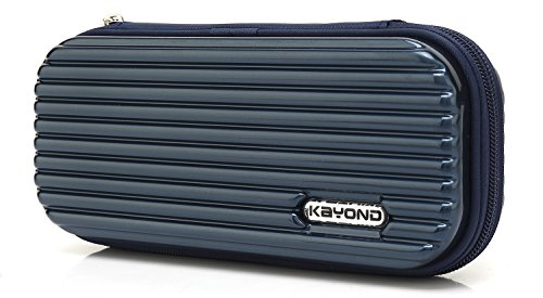 KAYOND Hard Pencil Case PC Hard Shell case for Executive Fountain Pen,Apple Pencil,Ballpoint Pen,Stylus Touch Pen (Blue)