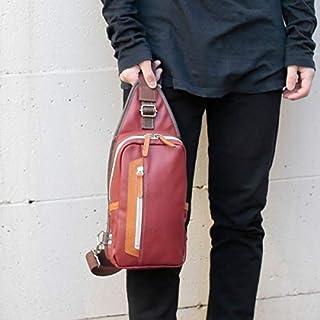 オティアス(Otias) 【日本製】フェイクレザータテ型ボディバッグ/ワンショルダー/父の日ギフトプレゼント